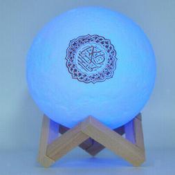 Novelty 3D Quran Bluetooth Speaker 7 Color Night Moon Light