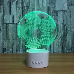 Novelty 3D USB led Lamp FootBall Bluetooth Speaker Music Soc