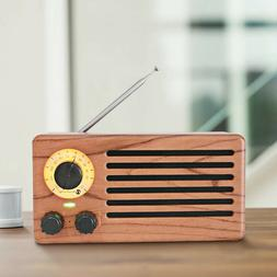 New Rixing FM Radio Retro Desktop Bluetooth Speaker Rosewood NIB!