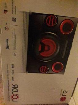 LG OJ45 LOUDR Bluetooth Speaker System - Red