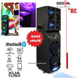 Axess PABT6026 Portable Bluetooth PA Party Speaker LED Disco