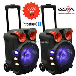 Axess PABT6056 Bluetooth Trolley PA Speaker w/ Party LED Lig