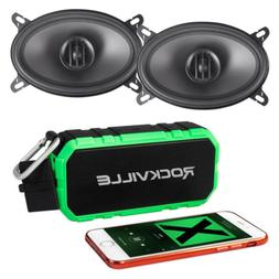 "Pair MTX THUNDER46 4x6"" 160 Watt 2-Way Coaxial Car Speakers+"