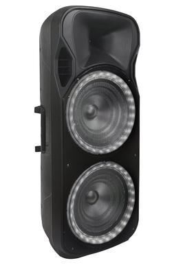 "QFX PBX-2250 2 x 15"" Rechargeable PA Speaker +TWS-Bluetooth+"