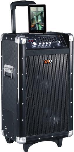 Qfx Pbx 3080Bt Portable Battery Powered Bluetooth Pa Speaker