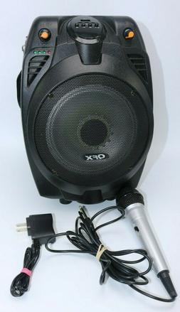 "QFX PBX-710700BTL 6.5"" Portable Bluetooth Party Speaker W/ M"