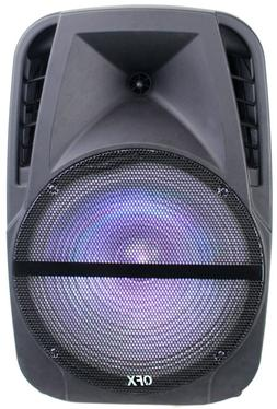 """QFX PBX-BF120 12"""" Rechargeable PA Party Speaker TWS/Bluetoot"""