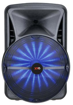 """QFX PBX-BF25 15"""" Rechargeable Party Speaker +APP-Control +Bl"""