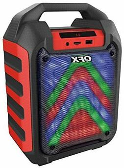 Qfx PBX4RD Portable Bluetooth Party Speaker System Red