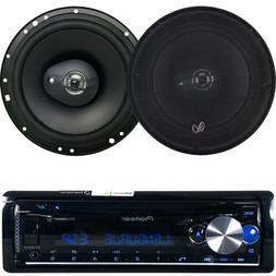 "Pioneer Bluetooth CD Mp3 USB AU Radio, 2 Kicker Car 6.5""300W"