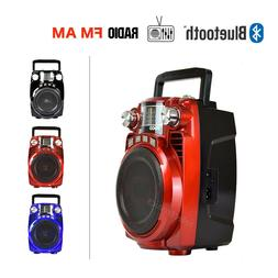 Portable AM/FM Radio Bluetooth Speaker Wireless Stereo Audio
