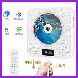 Portable Bluetooth DVD CD Player W Remote Wall Mounted Built
