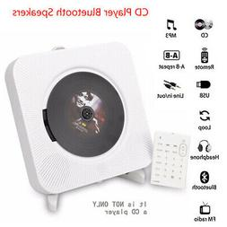 Portable Bluetooth DVD/CD Player Wall Mounted Home Audio MP3