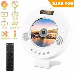 Portable Bluetooth DVD CD Player with Built-in HiFi Speakers