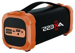 Axess Portable Bluetooth Indoor/Outdoor Rechargeable Speaker