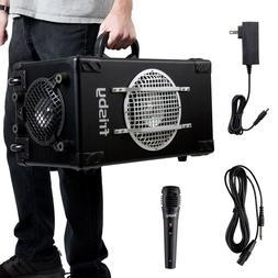 Portable Bluetooth Karaoke 2.1Ch Speaker System w/ Rechargea