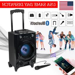 Portable Bluetooth Party DJ Karaoke PA Speaker 10W Rechargea