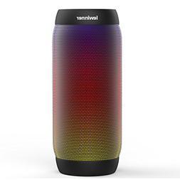 Lewinner led Portable Bluetooth Speaker, Waterproof Wireless