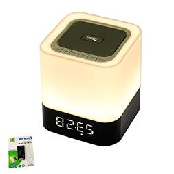 Portable Bluetooth Speaker + LED Night Light Lamp, with LED
