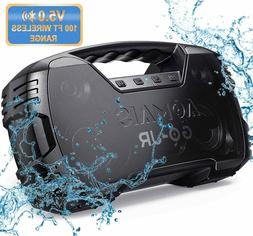 Portable Bluetooth Speaker, Waterproof, 25W Rich Bass Impres