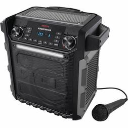 Portable Bluetooth Speaker with AM/FM Radio 100-watt amplifi