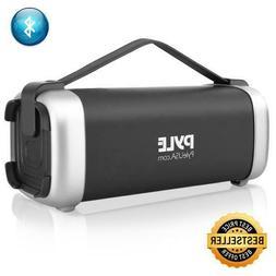 Pyle Portable Bluetooth Wireless Speaker, Rechargeable Batte