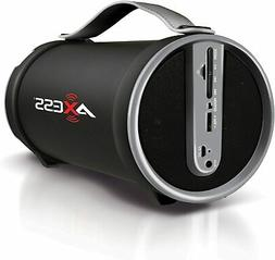 AXESS Portable Bluetooth Wireless Speaker with Subwoofer and