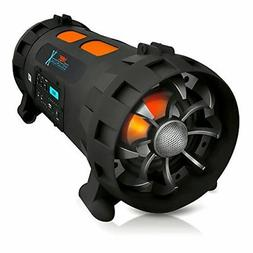 Pyle Portable BoomBox Stereo Speaker w/ Wireless Bluetooth -