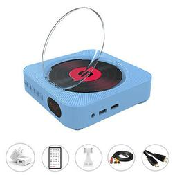 Portable CD/DVD Player Blue with Bluetooth Dual Speakers Wal
