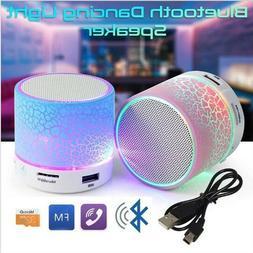 Portable Mini Flashing LED Bluetooth Speakers A9 Wireless Sm