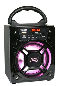 "6"" 200 Watts Portable Multimedia Speaker & Changing Colored"