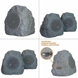 Portable Outdoor Bluetooth Rock Speakers Gray Weather Resist