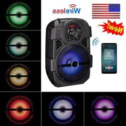 """Portable PA Karaoke Wireless Speaker w/ 8"""" Subwoofer Sound S"""