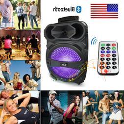 "Portable Party Speaker 8"" USB Bluetooth FM Control Loud Bass"