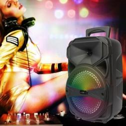 "Portable Party Speaker 8"" USB Bluetooth FM Control Loud Bass"