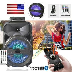 """8"""" Party Bluetooth Speaker Led Portable Stereo Tailgate Loud"""
