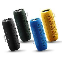 Portable Outdoor Speaker, Wireless Bluetooth V4.1, IPX4 Wat