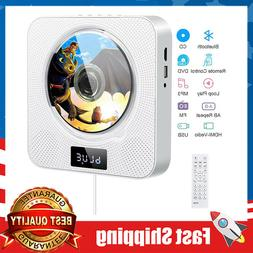 Portable Wall Mountable DVD CD Bluetooth Player Built-in HiF