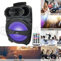 Portable Wireless Bluetooth Party DJ Tailgate Speaker LED Re