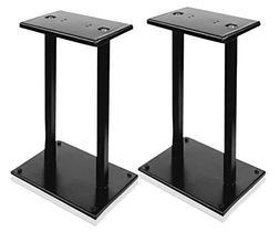 "13"" Quad Speaker Stands  - Universal Heavy Duty Steel Base"