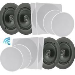 PYLE 10'' Bluetooth Ceiling/Wall Speaker Kit, Flush Moun