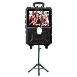 QFX KAR-920 8-Inch Portable Touch Screen Karaoke Speaker Sys
