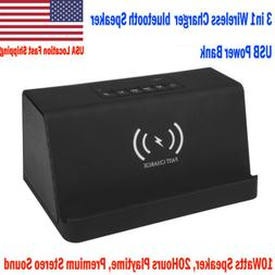 Qi Wireless Power Bank Fast Charger Bluetooth Speaker Stereo