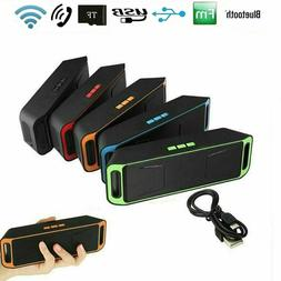 Recharegable Wireless Bluetooth Speaker Portable Outdoor USB