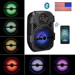 Rechargeable Wireless LED Party Speaker Woofer Portable Trav