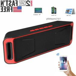 red portable wireless bluetooth speaker rechargeable call