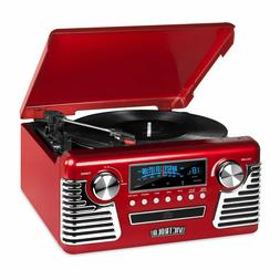 Retro 3-Speed Bluetooth Record Vinyl Turntable Stereo AM/FM
