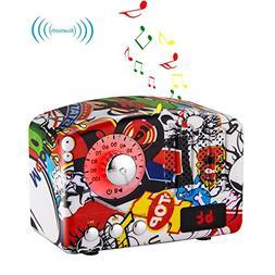 Retro Bluetooth Speaker-HIFI Stereo Bluetooth 4.2 Desktop FM