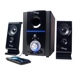 Supersonic SC-1120 Multimedia Speaker System 2.1 Ch Black W/