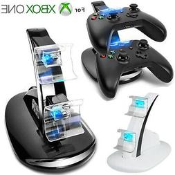 LED Light Dual Controller Charging Dock Station Charger for
